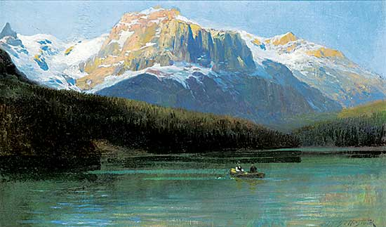 #9 ~ Bell-Smith - Canoeing on Emerald Lake