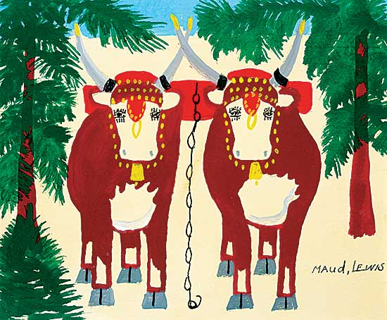 #75 ~ Lewis - Untitled - Pair of Oxen