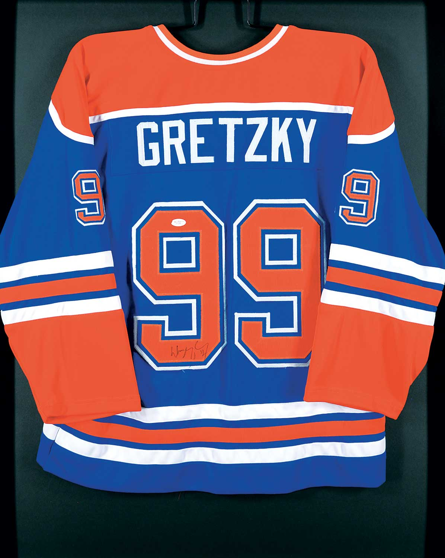 new style c7da1 cf274 Lot #514 ~ School - Wayne Gretzky - Signed Jersey - Levis ...