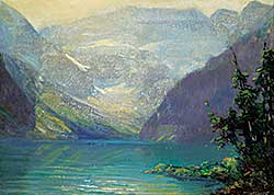 #10 ~ Bell-Smith - Golden Sunlight, Lake Louise