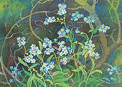 #414 ~ Brown - Untitled - Forget-Me-Not